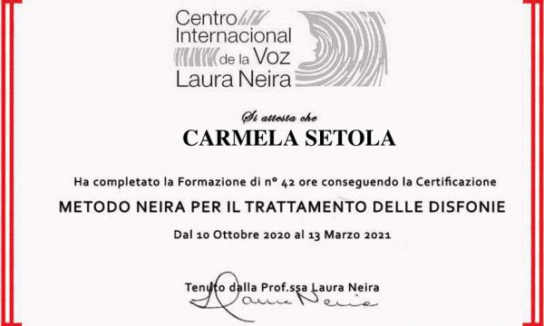 Certificazione Metodo Neira