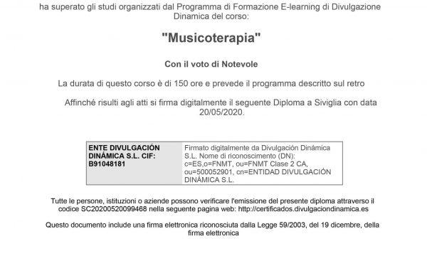 Divulgazione Dinamica Musicoterapia