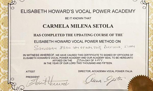 ELISABETH HOWARD'S VOCAL POWER ACADEMY